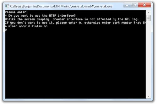 Mine Electroneum - HTTP Interface