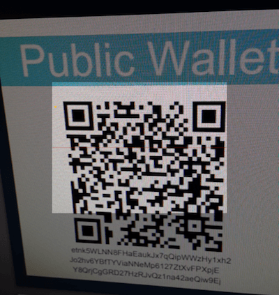 Import Paper Wallet - Public Wallet Address