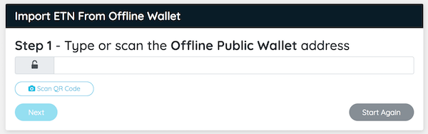 Scan Public Wallet QR Code